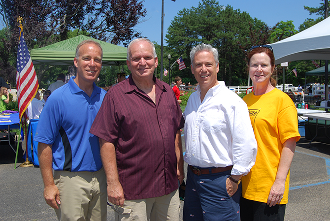Pictured left to right: Suffolk County Legislator Tom Cilmi, Mayor Allan M. Dorman, Islip Town Councilman Steve Flotteron, and Islip Town Clerk Olga H. Murray.