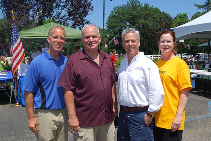 Pictured left to right: Suffolk County Legislator Tom Cilmi, Mayor Allan M. Dorman, Islip Town Councilman Steve Flotteron, and Islip Town Clerk Olga H. Murray.