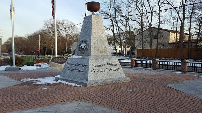 Missing USMC Medallion from Veterans Memorial