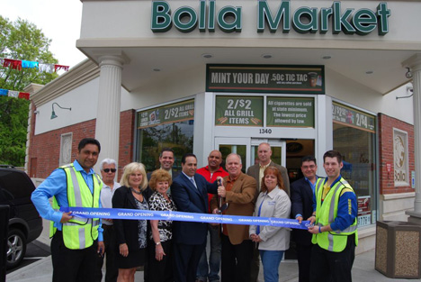 Pictured (left to right): Chanchal Gill, Manager, Motor Parkway Sunoco; Tony Church, Highway Commissioner, Village of Islandia; Mary Brady, School Nurse, Andrew T. Morrow Elementary School; Betty Ceccarini, Principal, Andrew T. Morrow Elementary School; Chris Tartaglia, P.E., Principal, High Point Engineering, Inc.; Harry Singh, Chief Executive Officer, Bolla Oil; Rattan Singh, Mr. Singh's cousin; Mayor Allan M. Dorman; Michael Zaleski and Barbara Lacey, Trustees, Village of Islandia; Seif Abdraboh, Merchandising Specialist, Bolla Oil; and Kevin Kriz, Assistant Manager, Motor Parkway Sunoco.