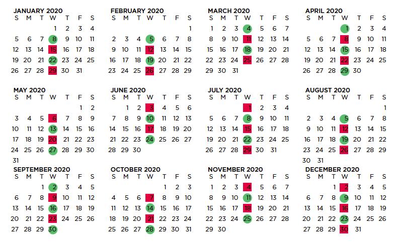 2020 Wrap Calendar