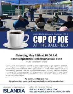 Cup of Joe at the Ballfield @ First Responders Recreational Ball Field