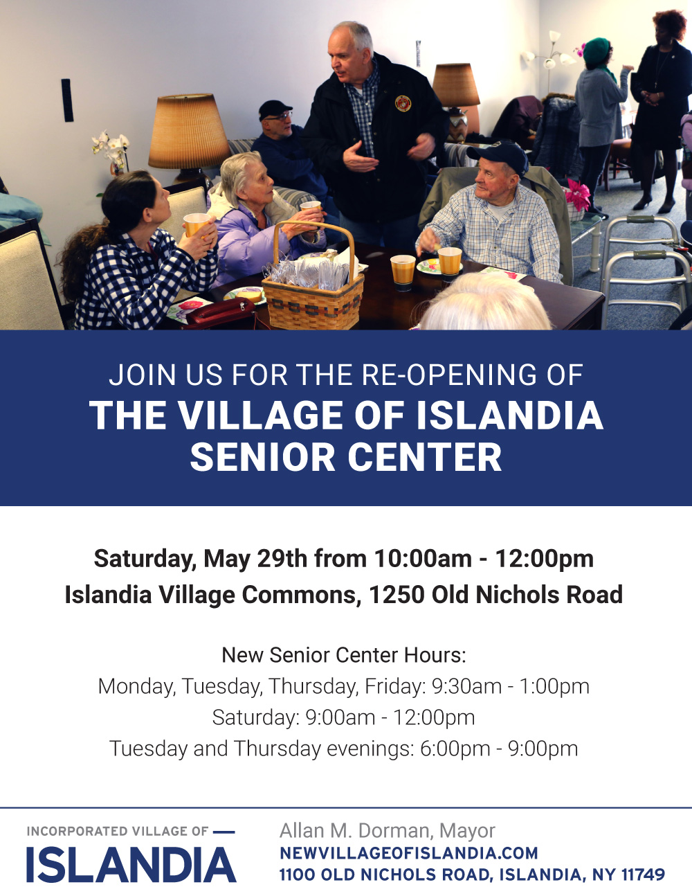 The Re-Opening of the Village of Islandia Senior Center