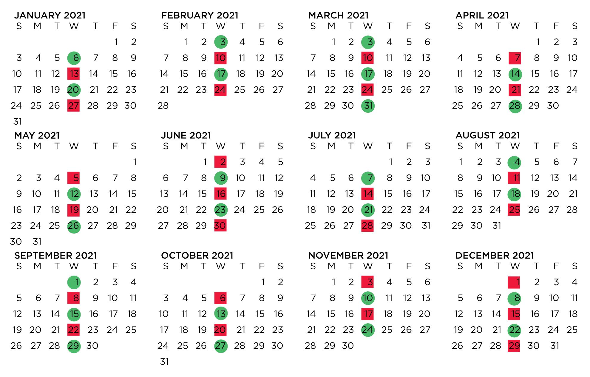 2021 WRAP Calendar